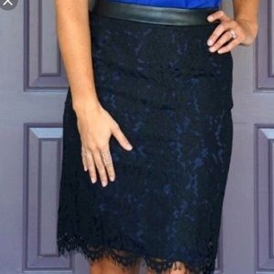 • Brixon Ivy Black Lace Skirt with blue lining •